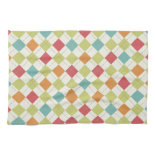 Colorful Diamond Argyle Pattern Gifts Hand Towels