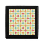 Colorful Diamond Argyle Pattern Gifts Keepsake Box