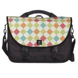 Colorful Diamond Argyle Pattern Gifts Laptop Messenger Bag