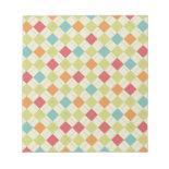 Colorful Diamond Argyle Pattern Gifts Memo Pad