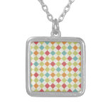 Colorful Diamond Argyle Pattern Gifts Personalized Necklace