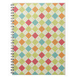 Colorful Diamond Argyle Pattern Gifts Spiral Notebook
