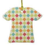 Colorful Diamond Argyle Pattern Gifts Ornament