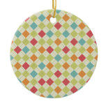 Colorful Diamond Argyle Pattern Gifts Christmas Ornament