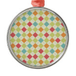 Colorful Diamond Argyle Pattern Gifts Ornaments