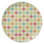 Colorful Diamond Argyle Pattern Gifts Plate