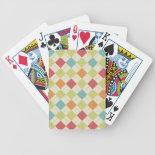 Colorful Diamond Argyle Pattern Gifts Bicycle Card Decks