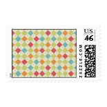 Colorful Diamond Argyle Pattern Gifts Postage Stamps