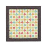 Colorful Diamond Argyle Pattern Gifts Premium Jewelry Boxes