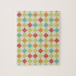 Colorful Diamond Argyle Pattern Gifts Jigsaw Puzzles