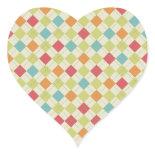 Colorful Diamond Argyle Pattern Gifts Sticker