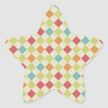 Colorful Diamond Argyle Pattern Gifts Stickers