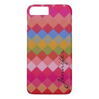 Colorful Diamond Geometric Pattern #11 iPhone 8 Plus/7 Plus Case