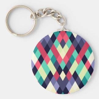 Colorful Diamond Geometrical Pattern Keychain