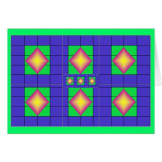 Colorful diamond grid card1 card