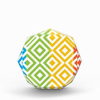 Colorful Diamond Pattern Acrylic Award