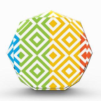 Colorful Diamond Pattern Award