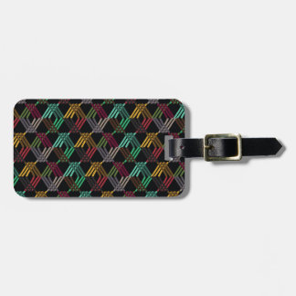 Colorful Diamond Pattern Bag Tag