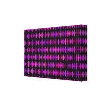 Colorful diamond pattern canvas print