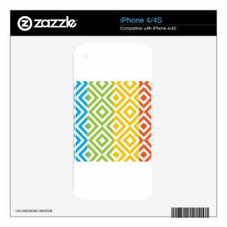 Colorful Diamond Pattern iPhone 4S Skins