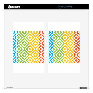 Colorful Diamond Pattern Kindle Fire Skins
