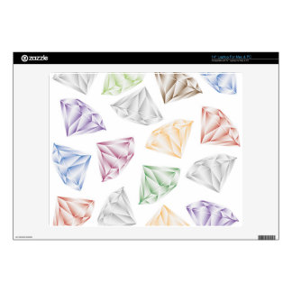 """Colorful Diamonds for my sweetheart Decals For 14"""" Laptops"""