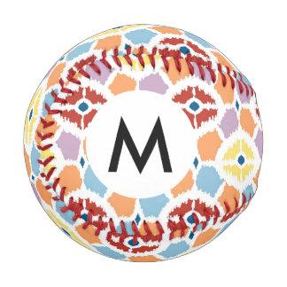 Colorful diamonds ikat geometric baseball