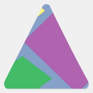 Colorful Diamonds On Blue Triangle Sticker