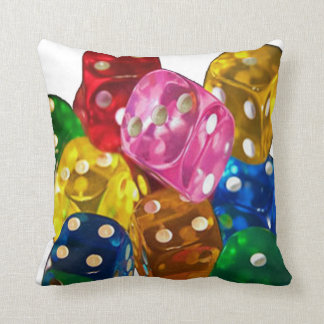 Colorful Dice 2 Sided Pillow