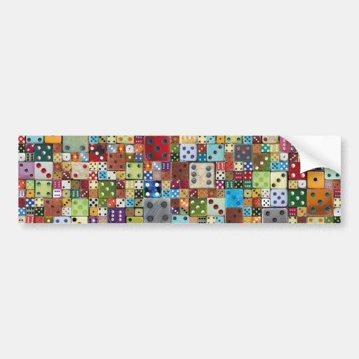 Colorful Dice Bumper Sticker