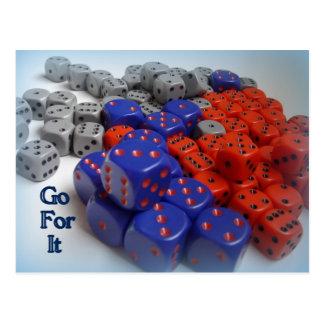 colorful dice Card