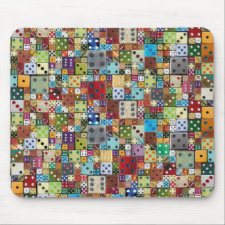 Colorful Dice Mouse Pad
