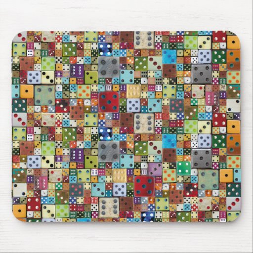 Colorful Dice Mouse Pads