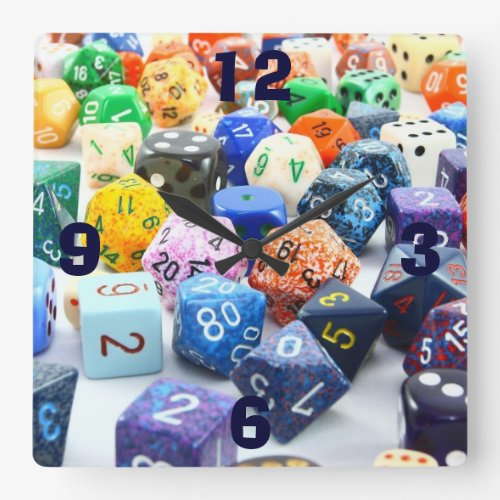 Colorful Dice Wall Clock