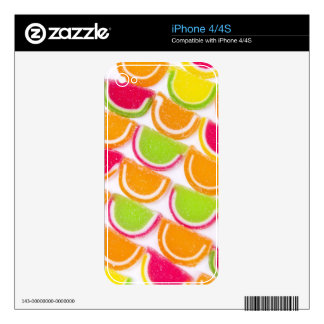 Colorful Different Jelly Candy iPhone 4S Skin