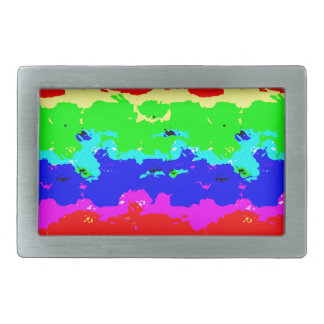 Colorful Digital Abstract Collage Belt Buckle