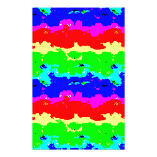 Colorful Digital Abstract Collage Stationery