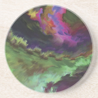 Colorful Digital Abstract Painting Coasters