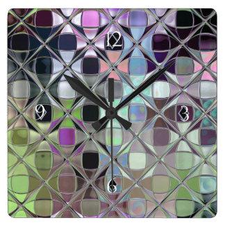 Colorful Digital Art Sleek Acrylic Custom Clock