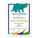 Colorful Dinosaur Birthday Party Invitations