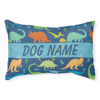 Colorful Dinosaur For Pets Personalize Dog Bed