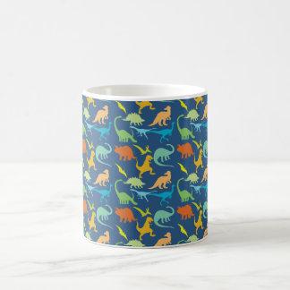 Colorful Dinosaur Pattern Coffee Mug