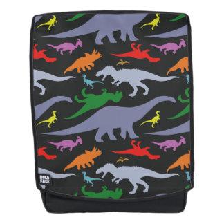 Colorful Dinosaur Pattern (Dark) Backpack