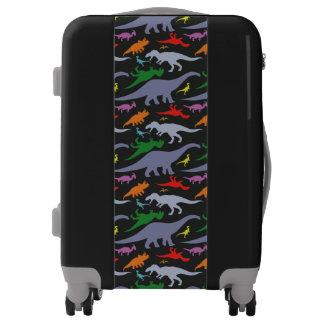 Colorful Dinosaur Pattern (Dark) Luggage