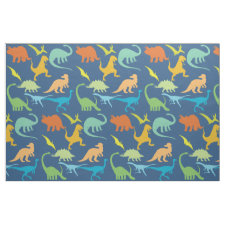 Colorful Dinosaur Pattern Fabric