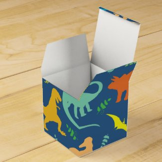 Colorful Dinosaur Pattern Favor Box