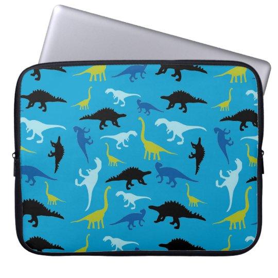 Colorful dinosaur pattern laptop sleeve