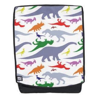 Colorful Dinosaur Pattern (Light) Backpack