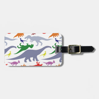 Colorful Dinosaur Pattern (Light) Bag Tag