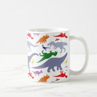 Colorful Dinosaur Pattern (Light) Coffee Mug